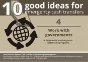 10 good ideas for #emergency #cashtransfer: Work with governments.